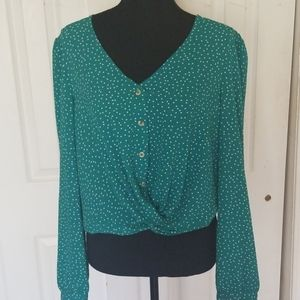 June & Hudson Knot Blouse